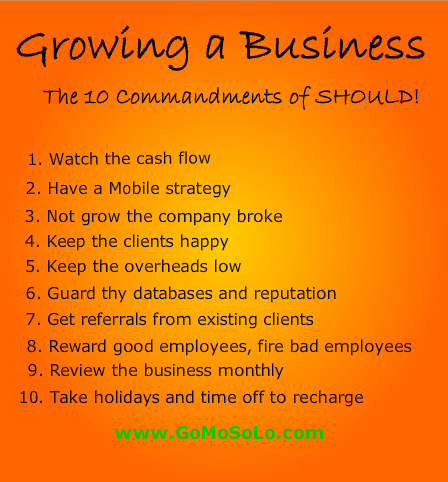 Infographic The 10 Commandments of Should